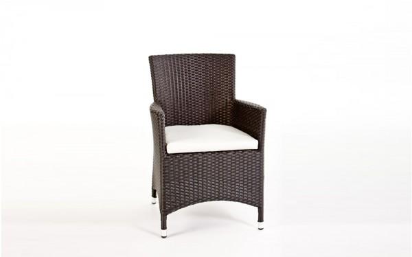 Nairobi Dining 180 Stuhl mit Polster schwarz