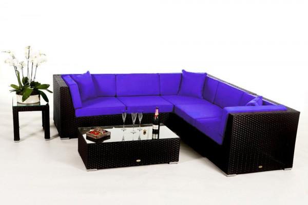 Shangrila Rattan Lounge - Überzugsset violett