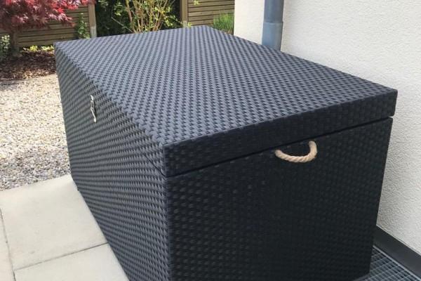 Rattan Kissenbox Big schwarz