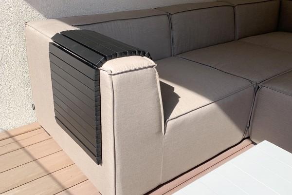 Butler Rolltisch 88 cm schwarz