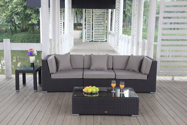 Bellaria Rattan Lounge braun