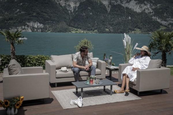 Jersey Outdoor Sofa Set sandbraun