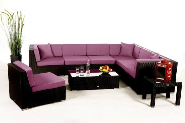 Bermuda Lounge Überzugset lila