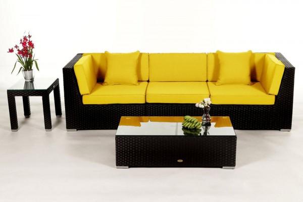 Bellaria Rattan Lounge - Überzugsset gelb