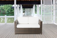 Luxury 2er Sofa braun