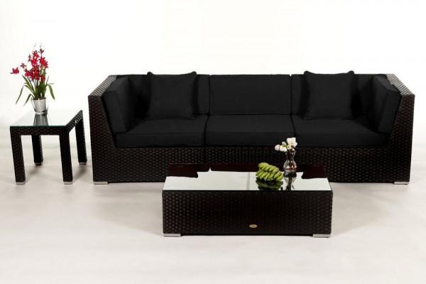 Bellaria Rattan Lounge - Überzugsset schwarz