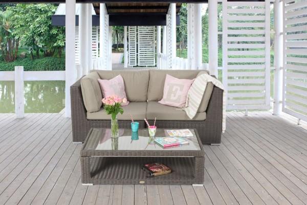 Brandy Rattan Sofa Set braun
