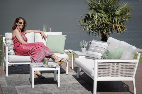Samira Garten Lounge Rope Style weiss