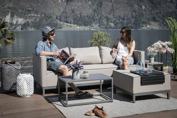 Alenia Sunbrella Lounge Set sandbraun