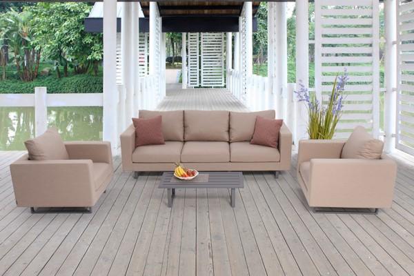 Outdoor Lounge Wellington sandbraun