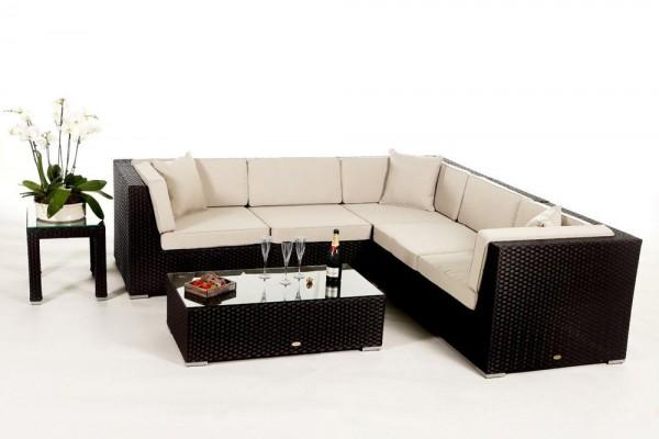 Shangrila Rattan Lounge - Überzugsset beige