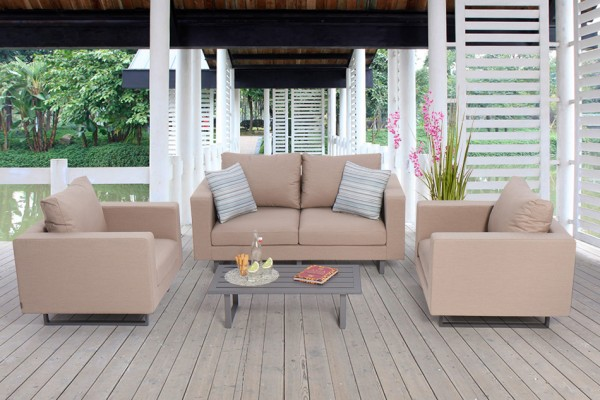 Jersey Outdoor Sofa Set sandbraun