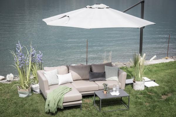 Brooks Outdoor Lounge rechts sandbraun