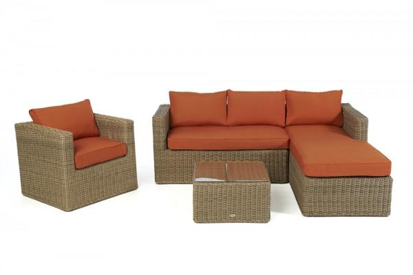 Brooklyn Lounge natural round - Überzugsset orange
