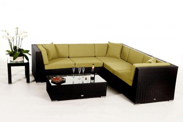 Shangrila Rattan Lounge - Überzugsset lime