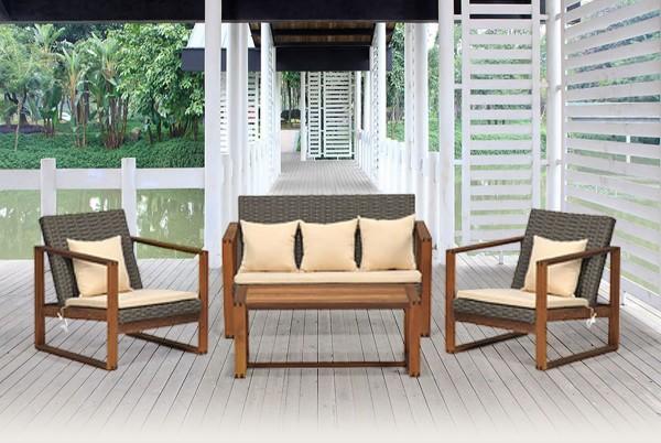 Madeira Holz Lounge