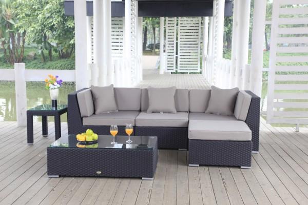Leonardo Rattan Lounge - Überzugsset sandbraun