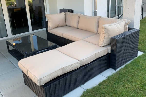 Lunes Rattan Sofa Set natural