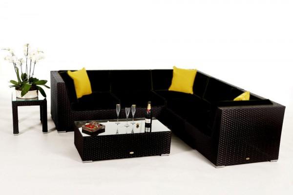 Shangrila Rattan Lounge - Überzugsset schwarz