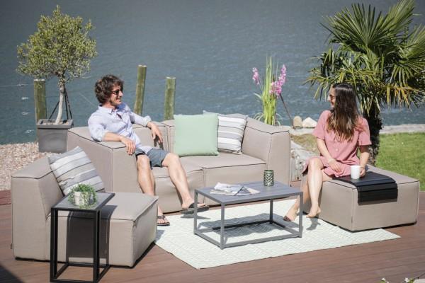 Jamie Sunbrella Fabric Lounge sandbraun