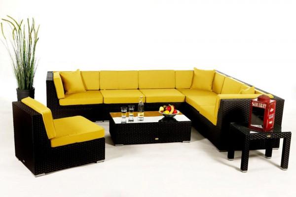 Bermuda Lounge Überzugsset gelb