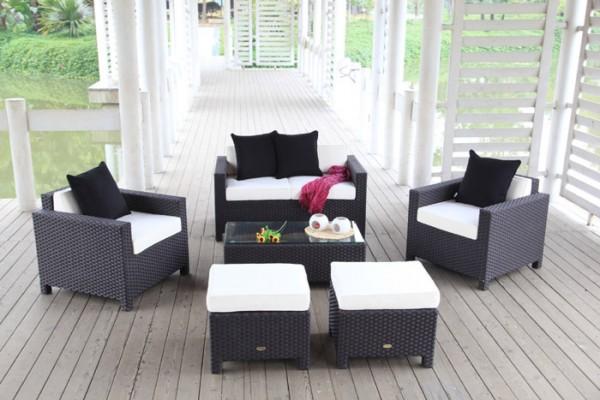 Royal Garten Lounge schwarz