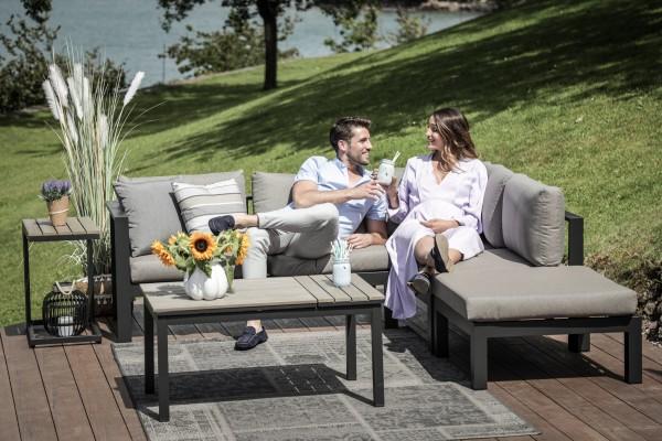 Vivienne Alu Lounge Set stone grey
