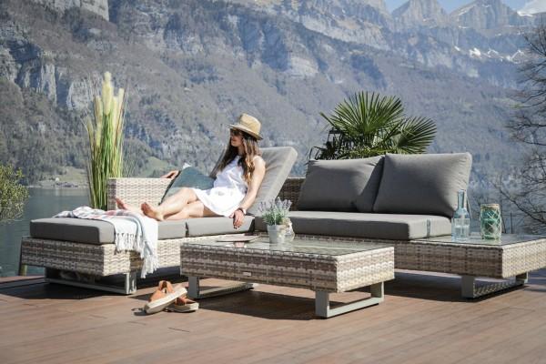Garcia Rattan Lounge funktional Set natural