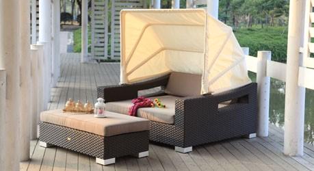 Beach Chair Überzugset sandbraun