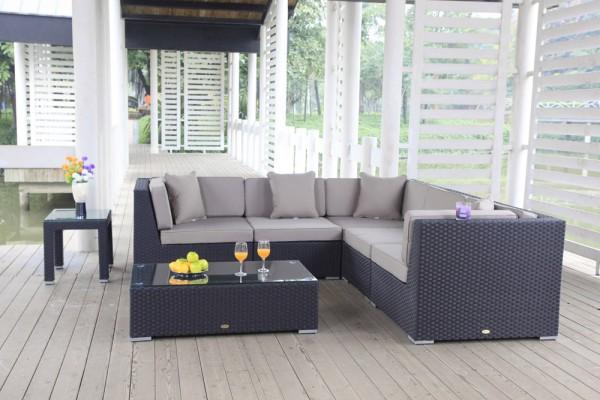 Shangrila Rattan Lounge - Überzugsset sandbraun