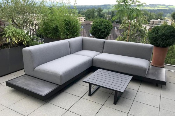 Torontino Outdoor Stoff Lounge Set grau