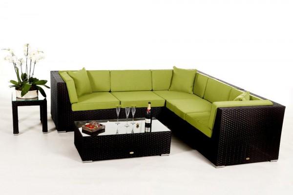 Shangrila Rattan Lounge - Überzugsset grün