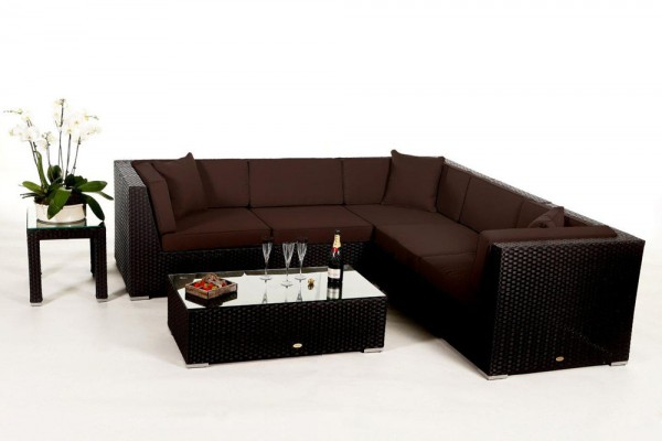 Shangrila Rattan Lounge - Überzugsset braun