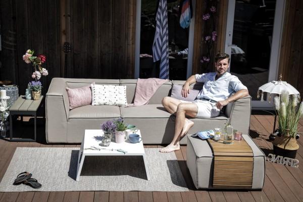 Adriane Sunbrella Fabric Lounge sandbraun