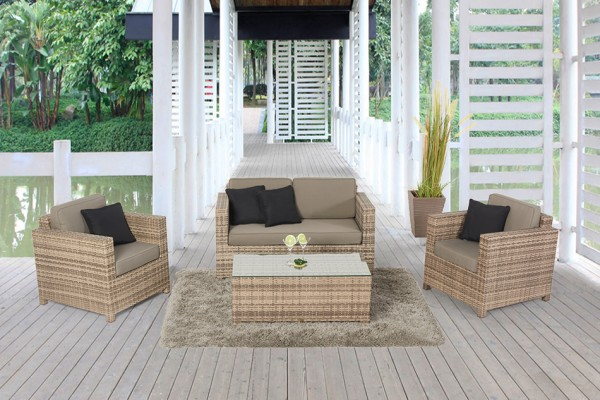 Luxury Rattan Lounge Natural