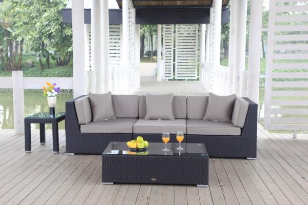 Bellaria Rattan Lounge - Überzugsset sandbraun