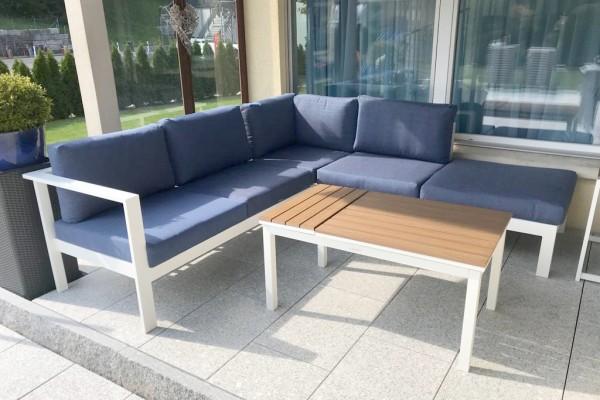 Vivienne Alu Lounge Set weiss