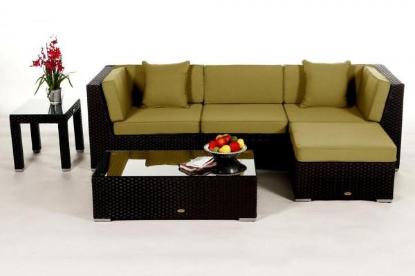 Leonardo Rattan Lounge - Überzugsset lime