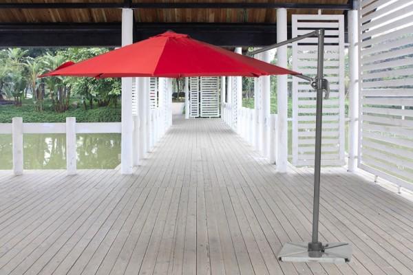 Dreieckige Granitplatten für Sonnenschirm Swing rot