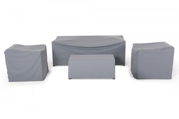 Luxury 3er Rattan Lounge Regenschutz