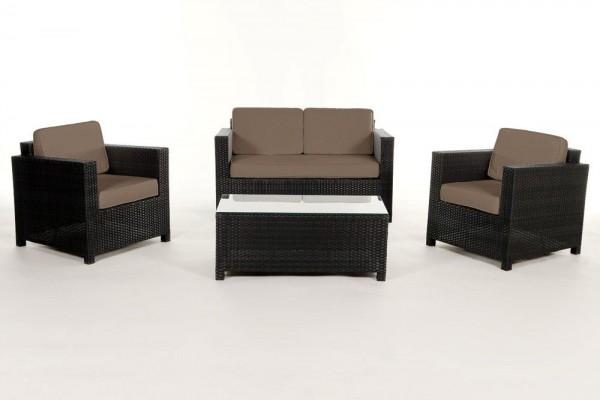 Luxury Rattan Lounge Überzugsset sandbraun