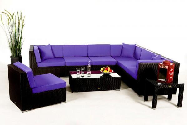 Bermuda Lounge Überzugsset violett