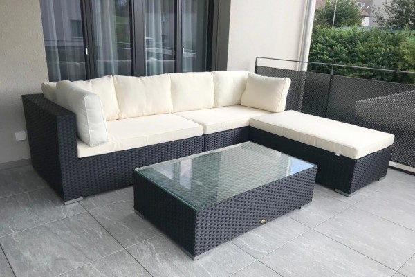 Milano Lounge Set schwarz
