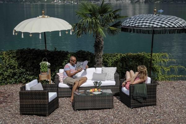 Luxury Lounge 3er braun