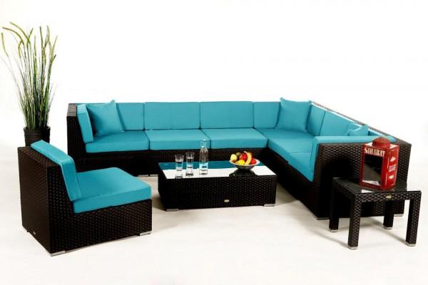 Bermuda Lounge Überzugsset aqua