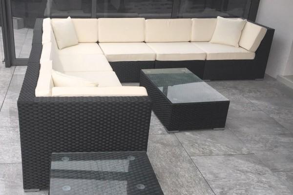 Bermuda Rattan Lounge schwarz