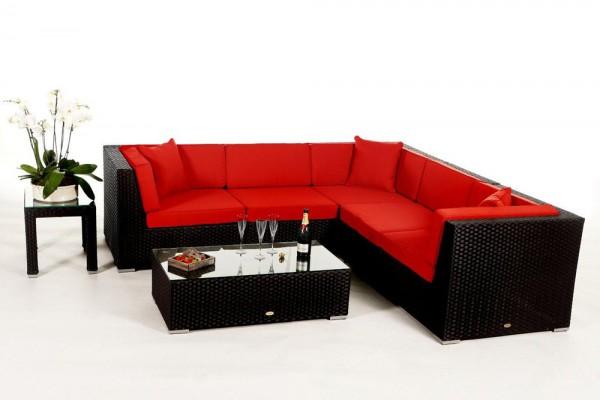 Shangrila Rattan Lounge - Überzugsset rot