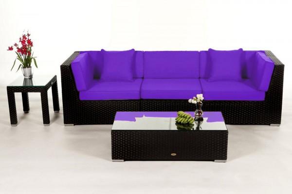 Bellaria Rattan Lounge - Überzugsset violett