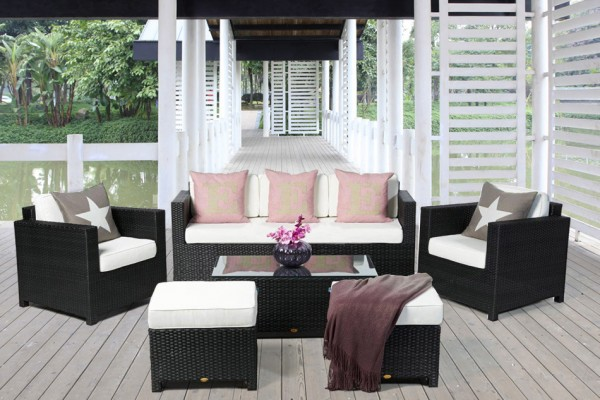 Luxury Deluxe Lounge 3er schwarz