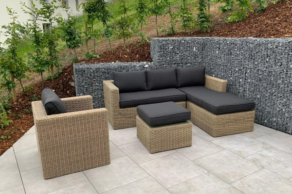Brooklyn Rattan Lounge natural round